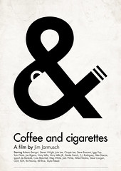 Coffee and cigarettes (Viktor Hertz) Tags: typography movieposter custom filmposter minimalist pictogram coffeeandcigarettes jimjarmusch