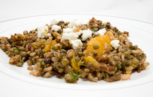 Wild Rice and Lentil Salad with Oranges, Dried Currants, and Golden Raisins