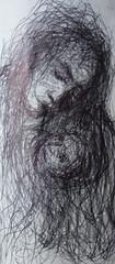 Pen Study (wblake9) Tags: pen sketch icons drawing feminine drawings icon expressionism symbolism wakefieldartisttimburton