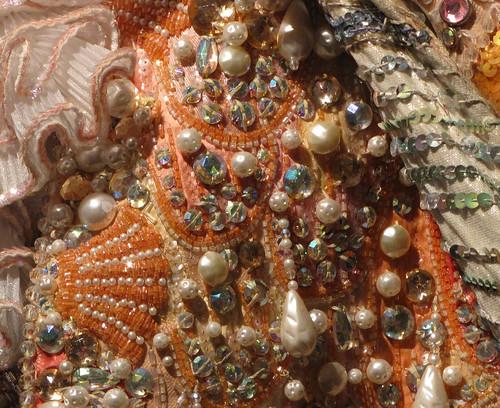 Liberace's King Neptune Costume - beadwork