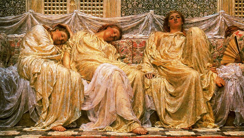 Moore, Albert Joseph (1841-1893) - 1879-82 Dreamers (Birmingham Museum and Art Gallery, England)
