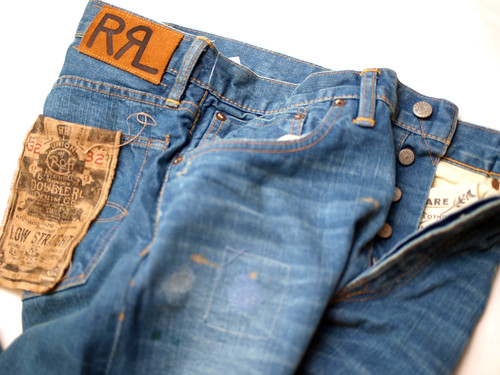 RRL / Low Straight Repaired Denim