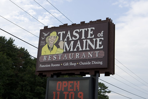 Taste of Maine sign.