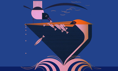 "Charley Harper • <a style=""font-size:0.8em;"" href=""https://www.flickr.com/photos/30735181@N00/4848320096/"" target=""_blank"">View on Flickr</a>"