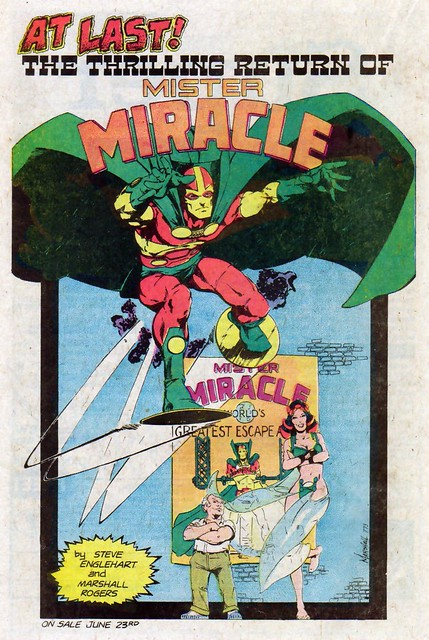 DC Comics ad for Mister Miracle by Steve Englehart and Marshall Rogers