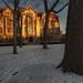 First light on Eckhart Hall