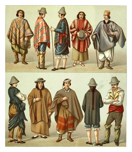 031-Trajes chilenos -Geschichte des kostüms in chronologischer entwicklung 1888- A. Racinet