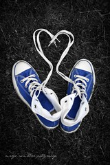 The_Chuck__s_Blues__by_margs54 (margomichelle52) Tags: blue love photography shoe shoes heart blues converse chuck chucks laces taylors the