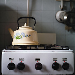 Kitchen of my grandparents (Anton Novoselov) Tags: 120 6x6 film kitchen zeiss square fuji grandmother russia gas hasselblad kettle stove medium format autaut