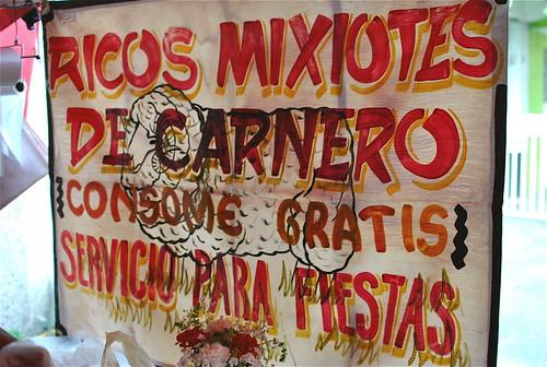 Tianguis Mixiote Signage