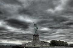 lady liberty HDR (NathanSlabaughPhotogrpahy/CircusCoffee) Tags: newyork statue america liberty nikon statueofliberty hdr ellisisland 2470mm 28f nycnyusa americansymbol nyccruise d300s nycboat