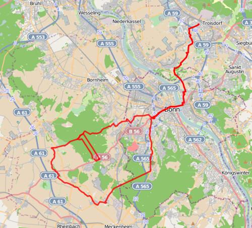 Beispiel einer Karte, die mit Easymap erzeugt wurde
