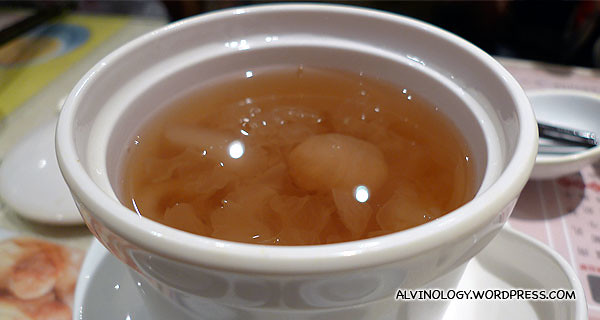 Rachel's desert soup made of longan and other sweet stuff - delicious