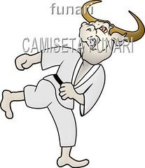 desenho foto lutador touro luta quimono