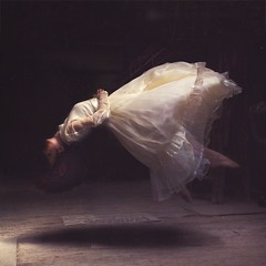 experiencing space (brookeshaden) Tags: wood girl dress floating levitation warehouse fabric workshop twitter brookeshaden thisismyfavoritedressthativeevergottensoperfectforthatoldagedlookilove