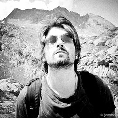 portrait white black mountains alps me sunglasses canon john square switzerland 60s low grain shades e squareformat round gran grainy lennon res bianco nero sixties lowres gabriele greyscale lightroom jomme lightroom3