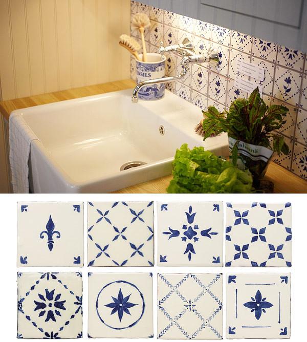 Handpainted tiles by Rakennusapteekki