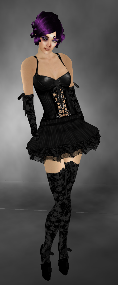 AVid Gothic Clothing - Moulin Noir + Betty Boop - Vamp Purple