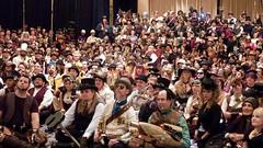Steampunk Group Photo (sciencensorcery) Tags: cosplay conventions con dragoncon steampunk dragoncon2010 dragoncon10