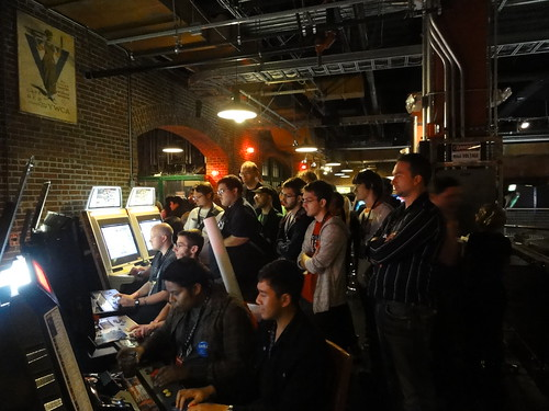 Crowds at Gameworks Party
