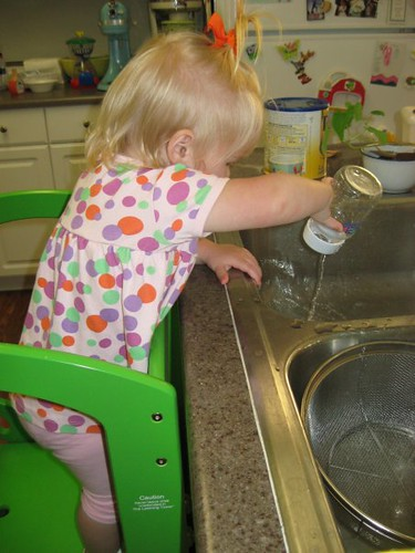 Helping with the dishes