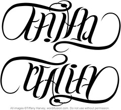 """Faith"" & ""Reality"" Ambigram"