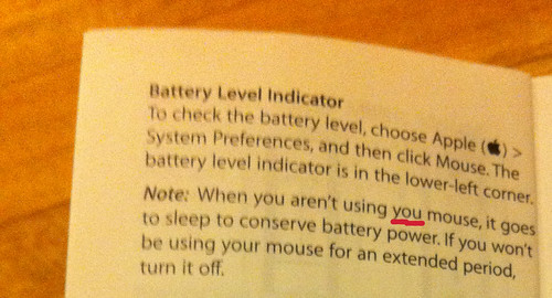 Apple Magic Mouse manual typo