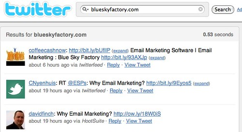 blueskyfactory.com - Twitter Search