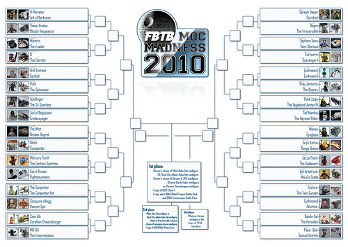 MOC Madness Round of 32 Brackets