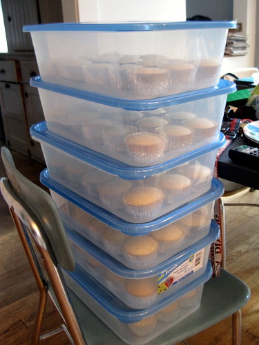 cupcakes in tupperware