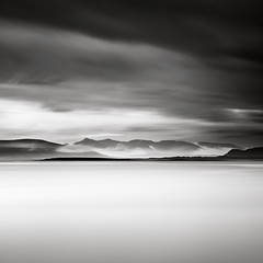 Faxafli (p i c a) Tags: ocean longexposure sky mist mountain seascape night clouds landscape volcano iceland reykjavik midnight waterscape ndfilter faxafli nd110 bwnd110