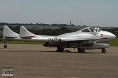 LN-DHZ - 990 - Private - F+W Emmen Vampire T55 (De Havillland DH-115) - Duxford - 100905 - Steven Gray - IMG_6188