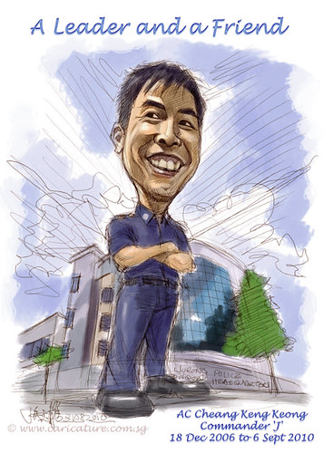 Digital caricature for Singapore Police Force - colour scheme