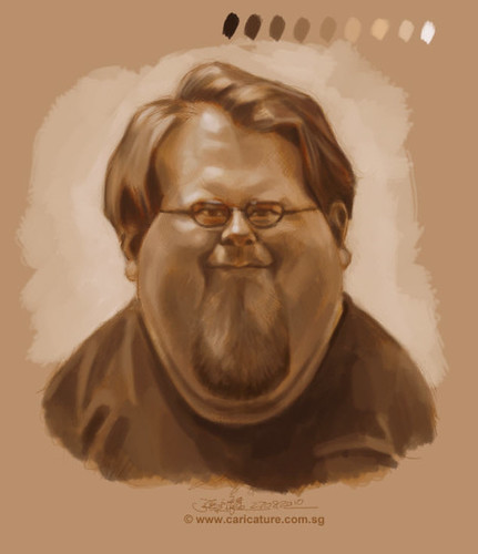 Schoolism Assignment 4 - monochromatic value painting of Nate - 1 small