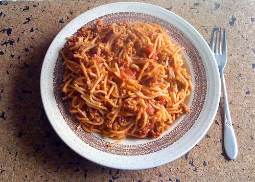 Spaghetti nach Art des Hauses