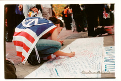 How Do You Feel? (September 2001) – Copley Square, Boston (bconstant) Tags: world cambridge boston america ma war peace flag massachusetts worldtradecenter towers 911 attack documentary twin center 11 september jamaica somerville terrorism twintowers wtc sept11 september11 mass sept trade plain jamaicaplain response 91101