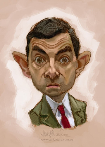 digital sketch of Mr Bean - 2 small