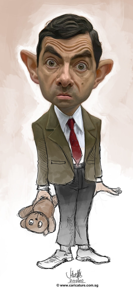 digital caricature of Mr Bean