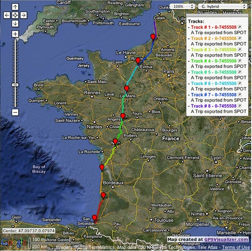 GPSVisualizer Ride Map