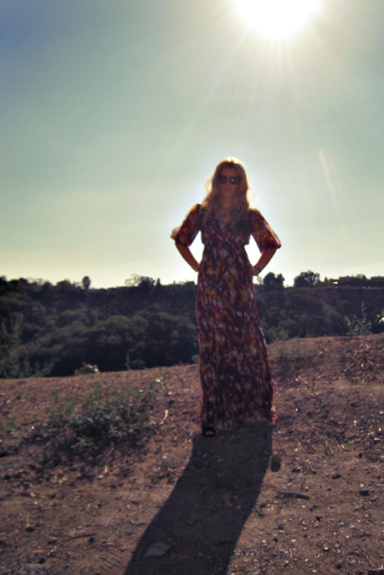the sun+flowy long dress+the hills+hill top