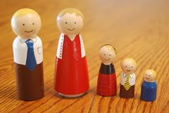 Wooden Peg Family