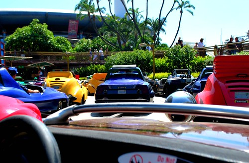 Autopia Traffic is like the 405 Freeway