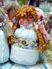 Bonequinha (Fuxico de Chita) Tags: de flor artesanal fuxico feltro boneca tecido aplicação sacola ecológica sachê