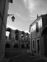 The Arena in Arles, France (rwchicago) Tags: france roman surreal unescoworldheritagesite arena coliseum paths provence tp arles caminhos lightandshadow lpsidestreets2