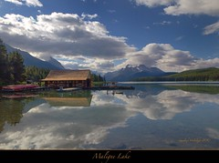 "Maligne Lake and Spirit Island, Jasper, Alberta (Joalhi ""Back in Miami"") Tags: canada reflections jasper alberta malignelake spiritisland coth5"