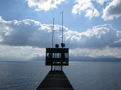 Pier Lookout to Lake Geneva Photo