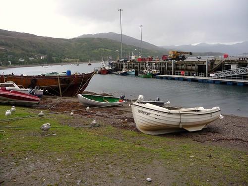 Ullapool Harbour Scene