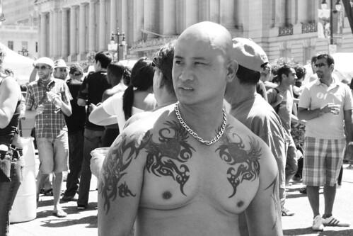 Candid Tattooed Man