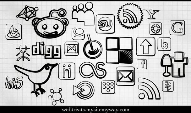 Webtreats Magic Marker Social Media Icons