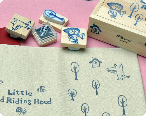Little Red Riding Hood rubber stamps